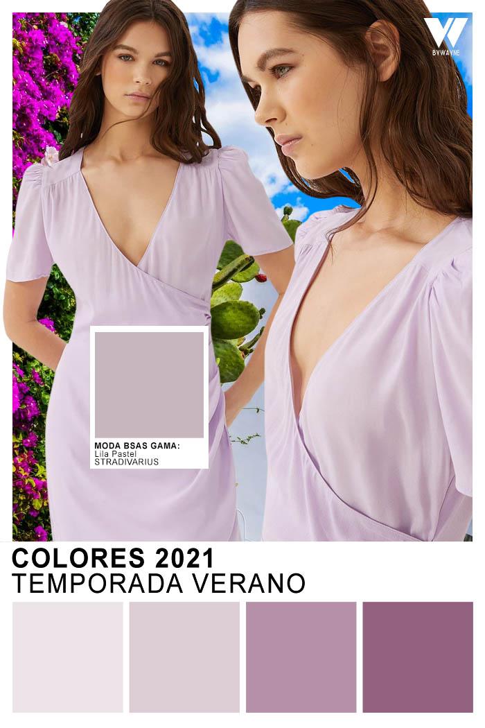 Lila color de moda primavera verano 2021 Moda 2021