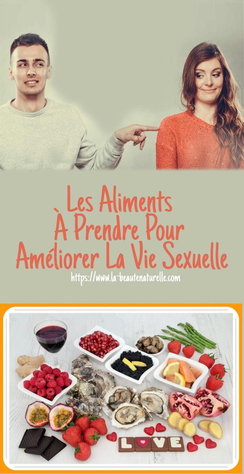 Les Aliments À Prendre Pour Améliorer La Vie Sexuelle