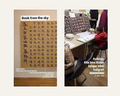 Pameran kaligrafi Xu Bing Museum MACAN Jakarta