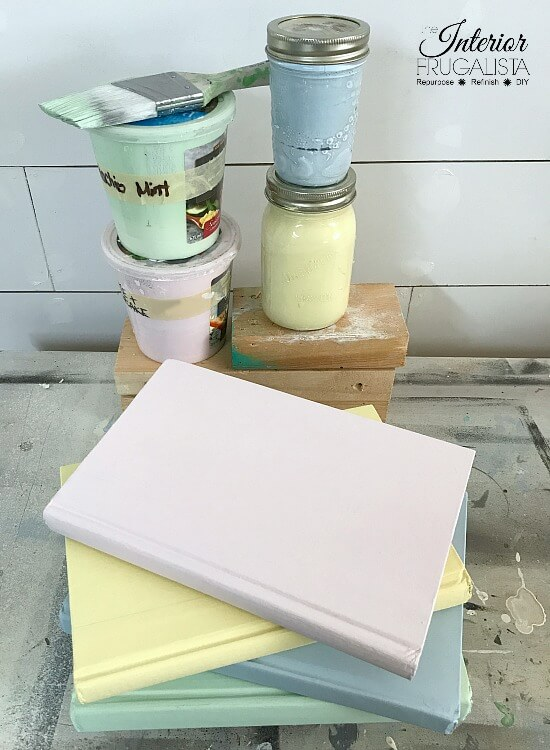 DIY Painted Books In Pretty Pastel Colors