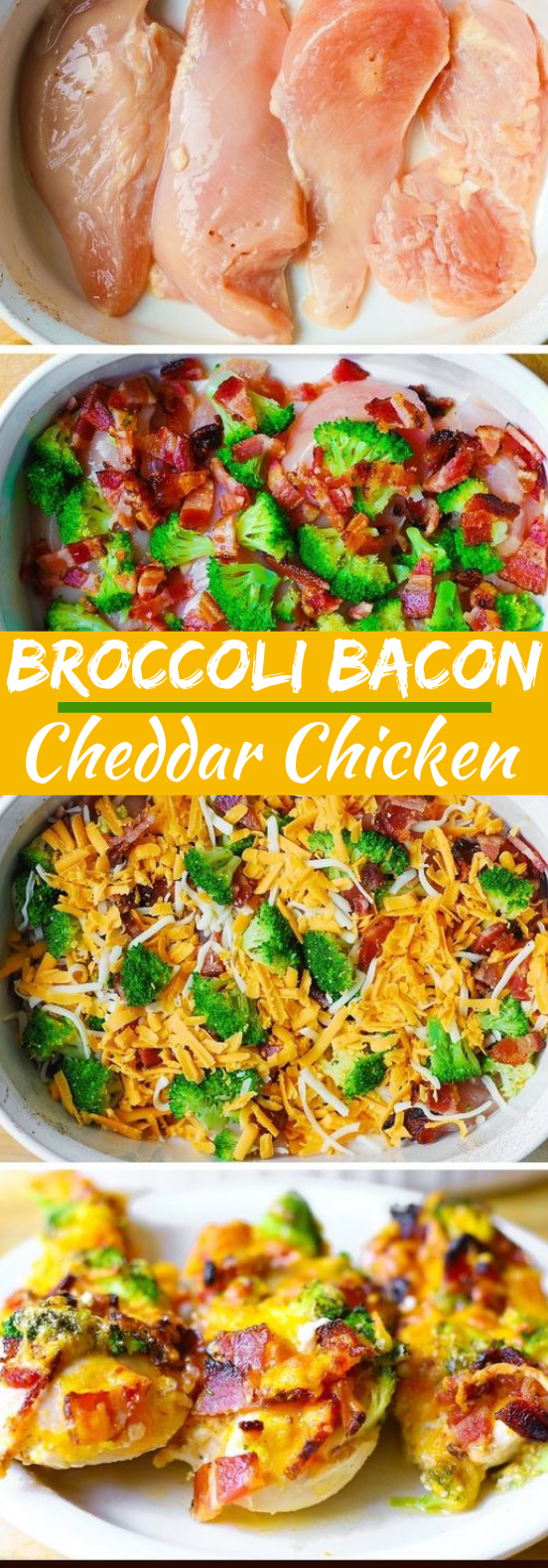 Broccoli Bacon Cheddar Chicken #dinner #chicken
