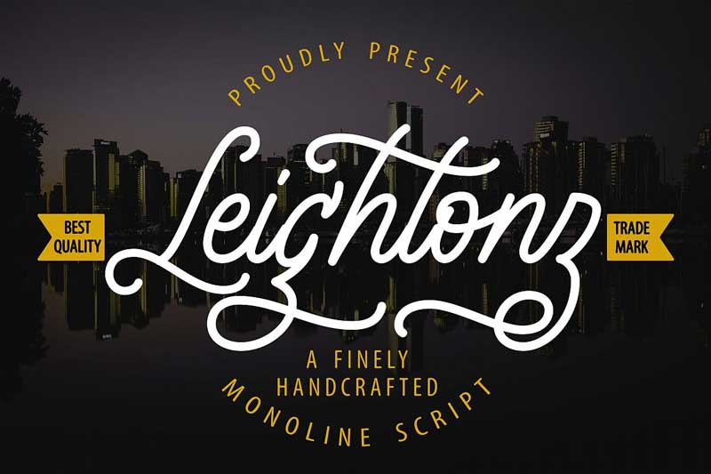 Leightonz   A Finely Handcrafted Monoline Script 520938