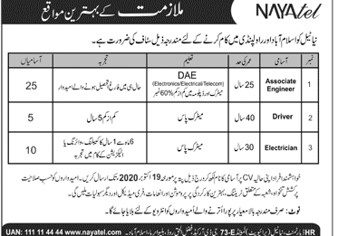 Nayatel Company Private Limited Job Advertisement in Pakistan
