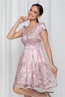 Rochie de ocazie Ella Collection Anabel roz prafuit