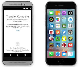 تطبيق Move to iOS من آبل للإنتقال من أندرويد