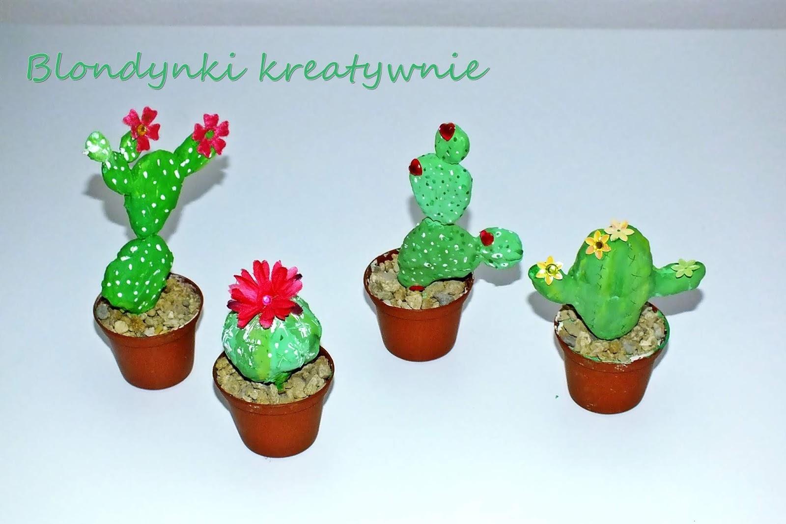 Mini Kaktusy Z Gliny Blondynki Kreatywnie