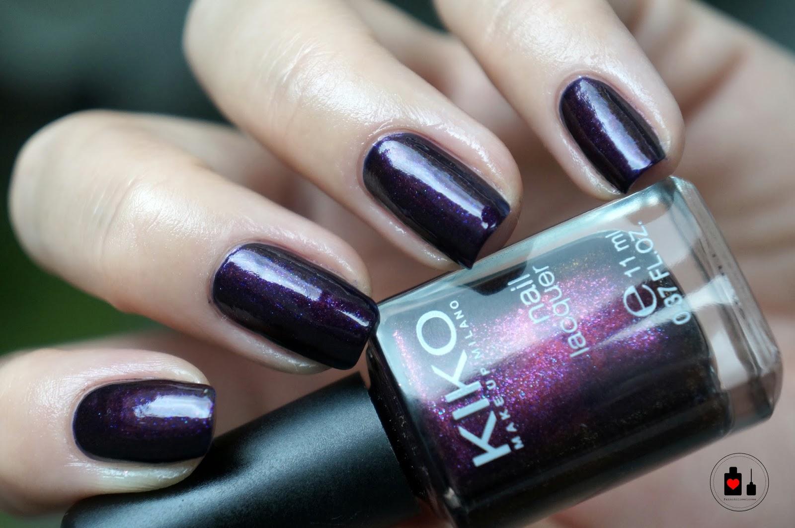 Kiko - pearly indian violet, czyli Chanel Taboo za kilka złotych.