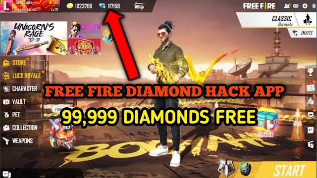 Free Fire Diamond Hack App | Official 99999+ Free Fire Diamond Hack APP 2021