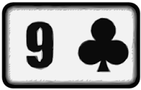 nine of clubs playing card