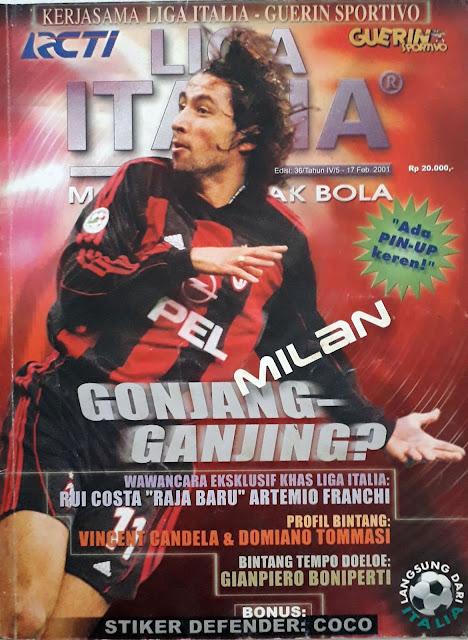 JOSE MARI OF AC MILAN FOOTBALL MAGAZINE COVER