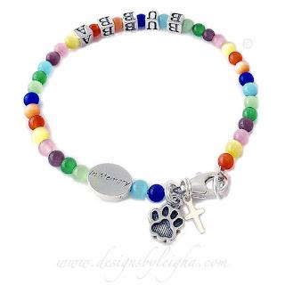 #rainbowbridge #pawprintbracelet #inmemoryjewelry