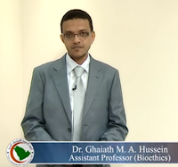 Ghaiath Hussein Saudi Commission Bioethics Professionalism videos