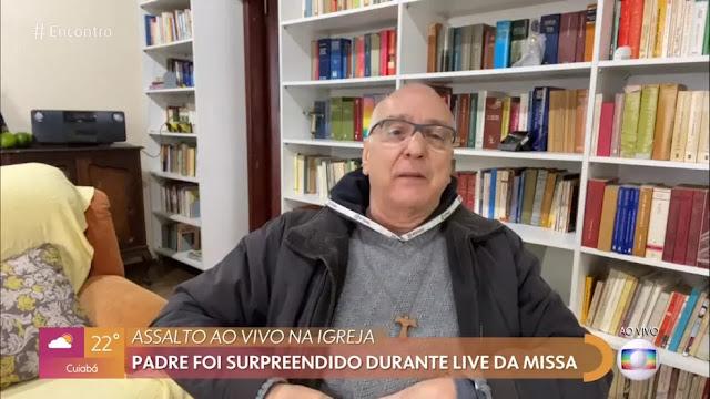 Padre Ramiro Mincato concede entrevista no Encontro na Globo