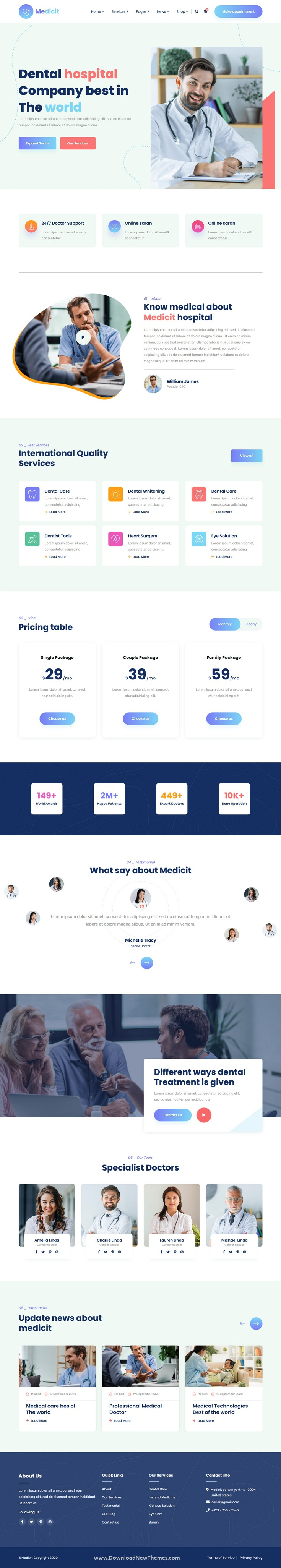 Medical and Health HTML Template
