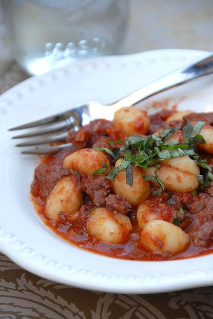 gnocchi bolognese pasta pork