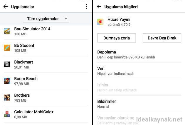 Android Uygulama Yöneticisi