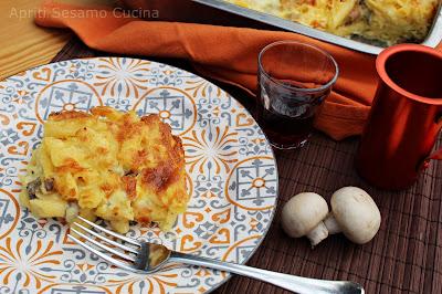 Ricetta facile e golosa con panna, funghi, prosciutto cotto, mascarpone Stuffer e formaggi