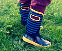 Bogs Boys Blue and Yellow Wellies