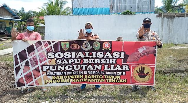 Polsek Pematang Karau Sosialisasi Saber Pungli Kepada Masyarakat