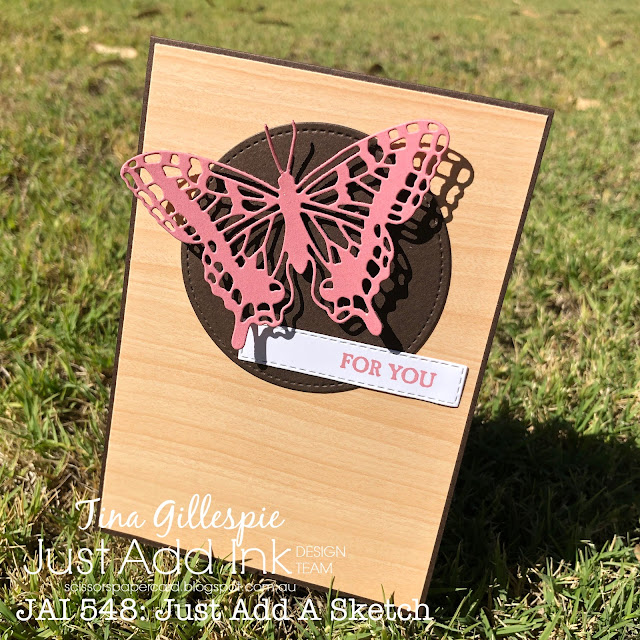 scissorspapercard, Stampin' Up!, Just Add Ink, A Good Man, Brilliant Wings Dies, Natural Touch Specialty Paper,