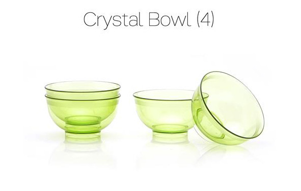Tupperware  Crystal Bowl (4) Promo November 2016