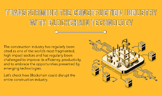 Transforming the Construction Industry with Blockchain Technology #infographic,blockchain,construction,construction industry,technology,blockchain technology,what is blockchain,supply chain blockchain,precious metals blockchain,powering the digital economy,construction tech,future technology,construction tools,project technology,digital construction week,construction week in focus,construction project management,new construction materials,government blockchain assn.,construction software,programming blockchain