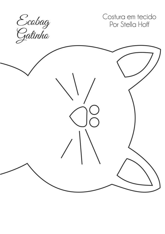 40f5283541 E como muita gente teve dificuldade em ampliar o molde, a minha nova  parceira Maria Cereja desenhou o molde e deixou no jeito pra imprimir: