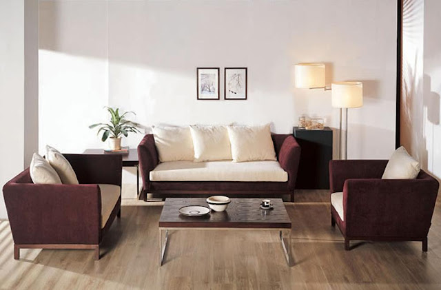 Modern Furniture: Living Room - Fabric Sofa Sets Designs 2011