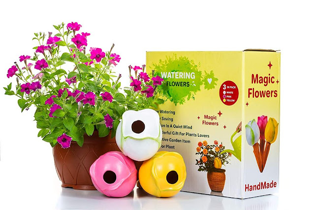 Flowers terracotta- 3 Self Watering System Spikes