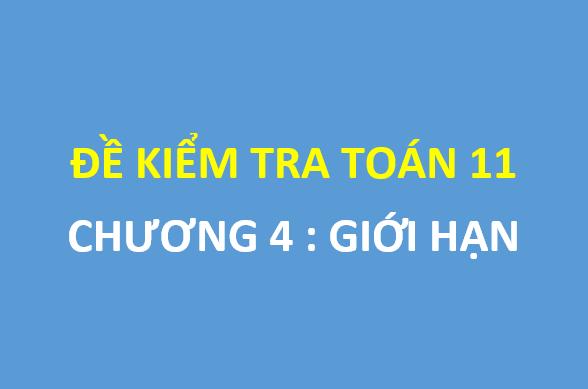 Đề kiểm tra 1 tiết chương giới hạn trường THPT Quỳnh Lưu 1