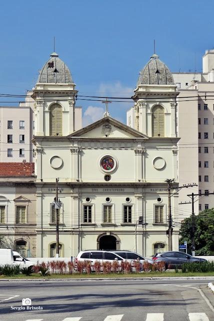 Vista ampla da Igreja de São Cristóvão - Luz - São Paulo