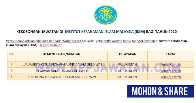 Jawatan Kosong Terkini di Institut Kefahaman Islam Malaysia (IKIM)