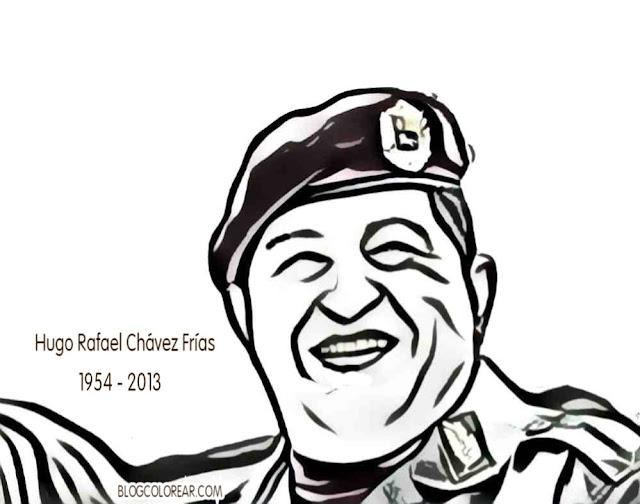 Dibujos de Hugo Chavez para colorear