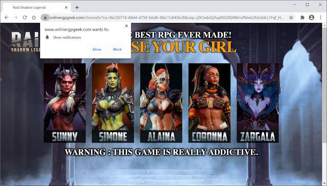 Onlinergpgeek.com pop-ups