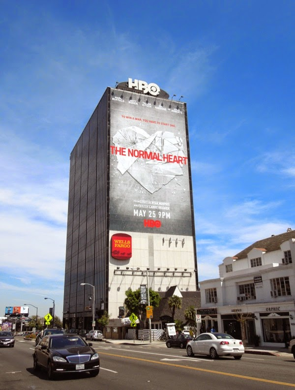 The Normal Heart movie billboard Sunset Strip
