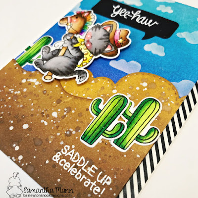 Yee-haw, It's Your Birthday Card by Samantha Mann for Newton's Nook Designs, Ink Blending, Distress Inks, Toy Story, Cowboy, Cards, #newtonsnook #distressinks #Inkblending #cowboy #cards #handmadecards #cardmaking