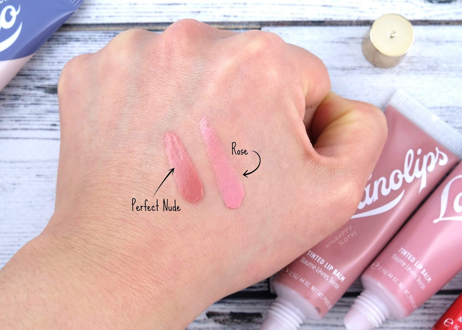 "Lano | Lanolips Tinted Lip Balm in ""Rose"" & ""Perfect Nude"" Review and Swatches"