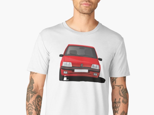 Peugeot 205 GTi illustration printed t-shirt