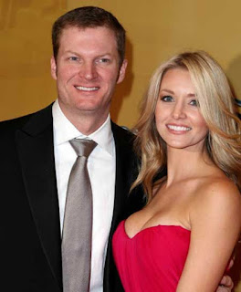 Dale Earnhardt Jr With His Logntime Girlfriend Amy Reimann