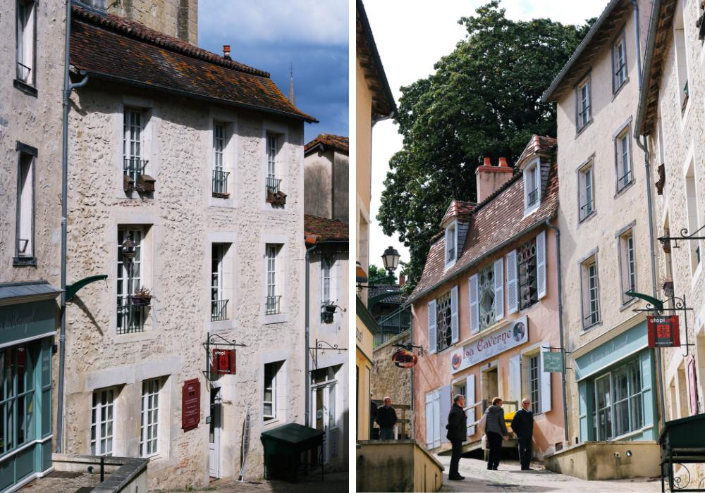 duas imagens de ruas