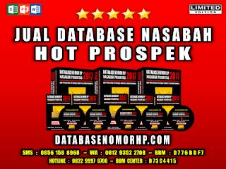 Jual Database Nasabah Hot Prospek