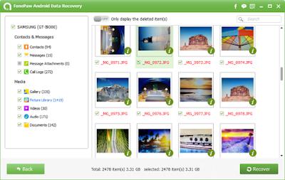 menggunakan FonePAw Data Recovery