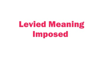 Levied Meaning