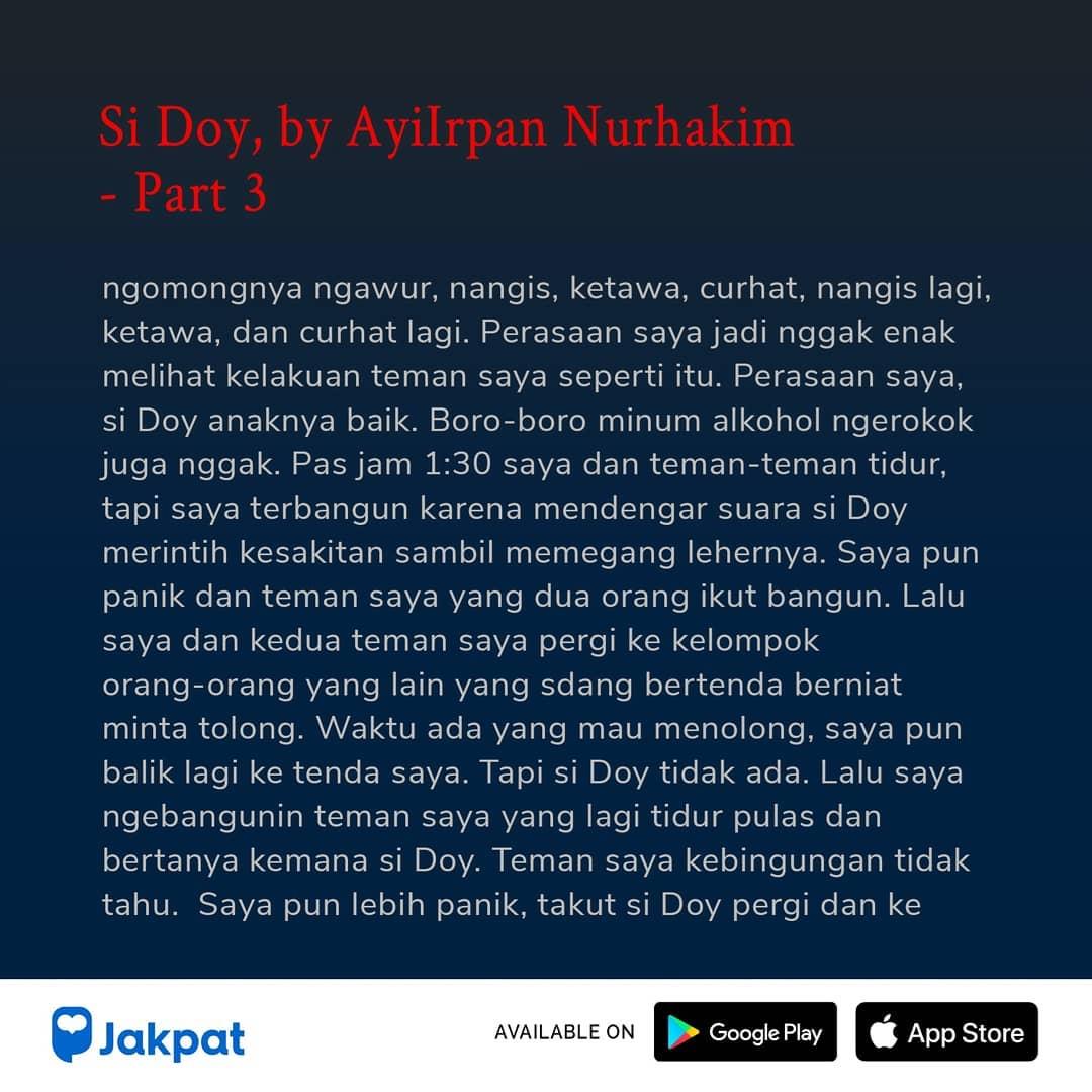 Kisah Misteri Si Doy, by Ayilrpan Nurhakim Part 3
