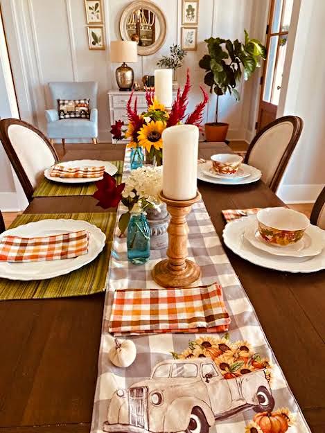 gray-beige-blue-orange-sunflowers-fall-table-farmhouse-athomewithjemma