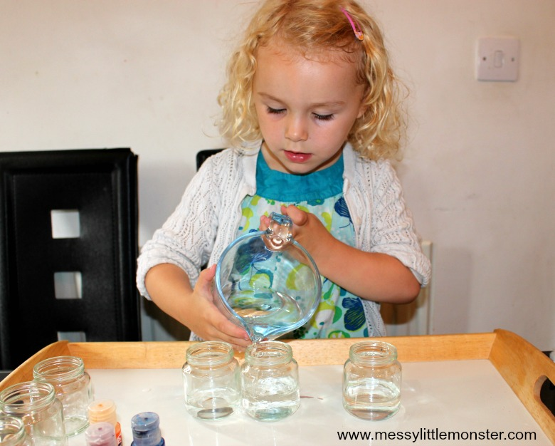 walking rainbow experiment for preschoolers