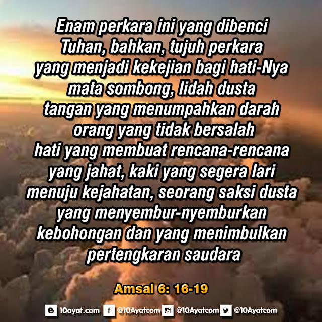 Amsal 6: 16-19