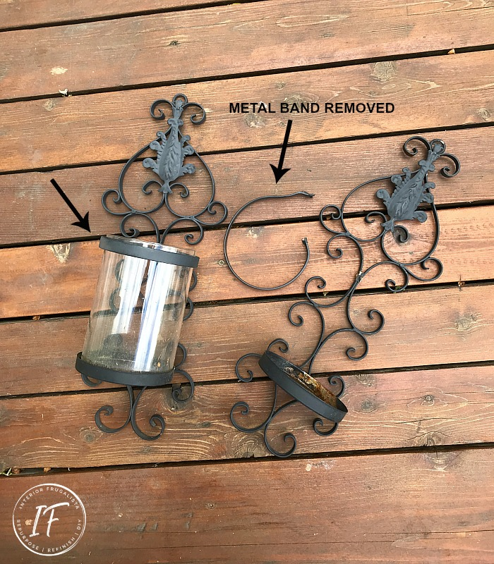 Upcycled Outdoor Candle Holders