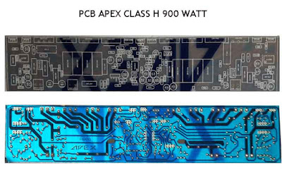 PCB Layout Design Apex H900 Audio Amplifier