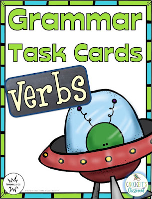 Verb task cards.  Try out the print and digital versions!